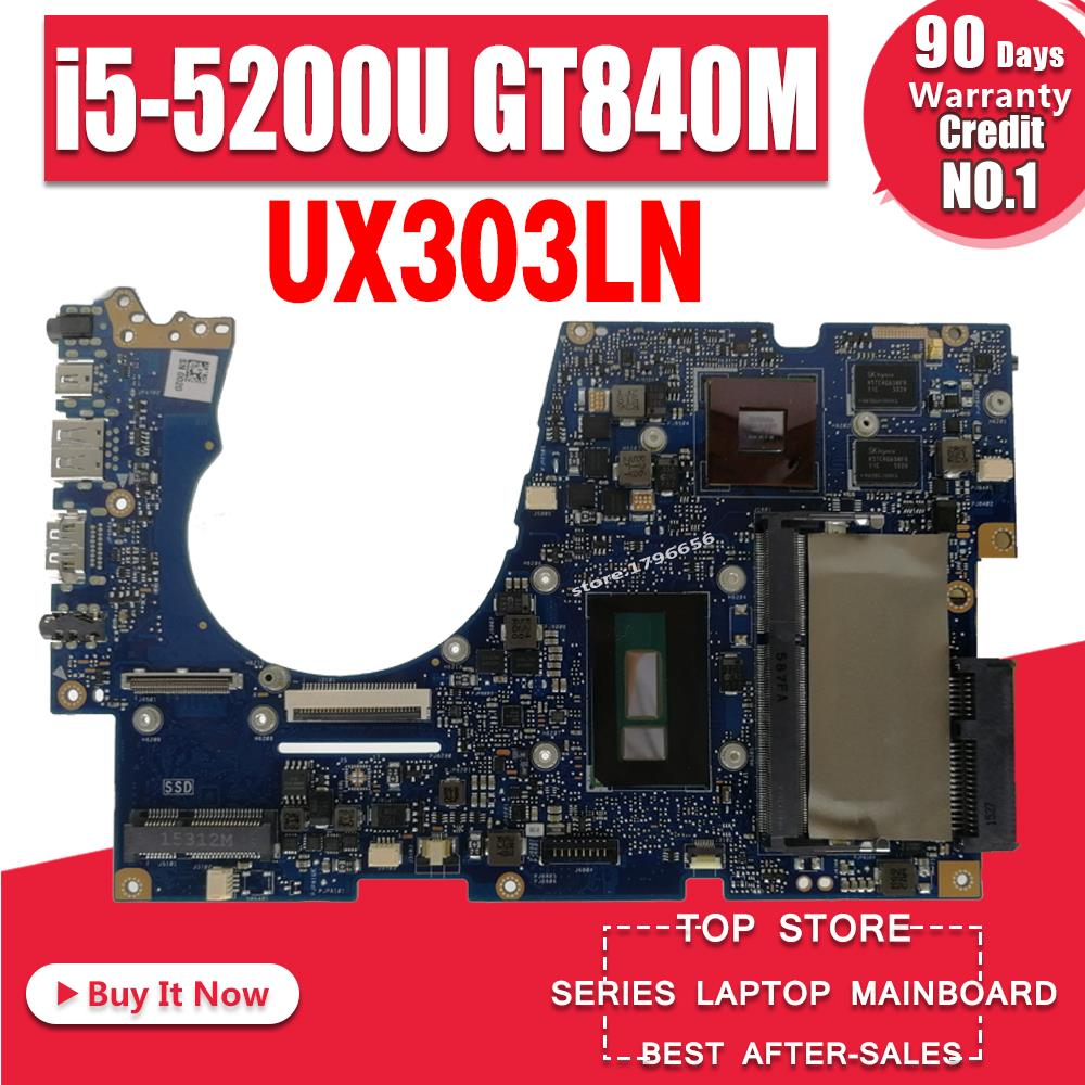 UX303LN Motherboard i5 5200U For ASUS UX303 UX303L UX303LN laptop Motherboard UX303LN Mainboard UX303LN Motherboard test 100% ok|motherboard for asus|laptop motherboard|motherboards for laptops - title=