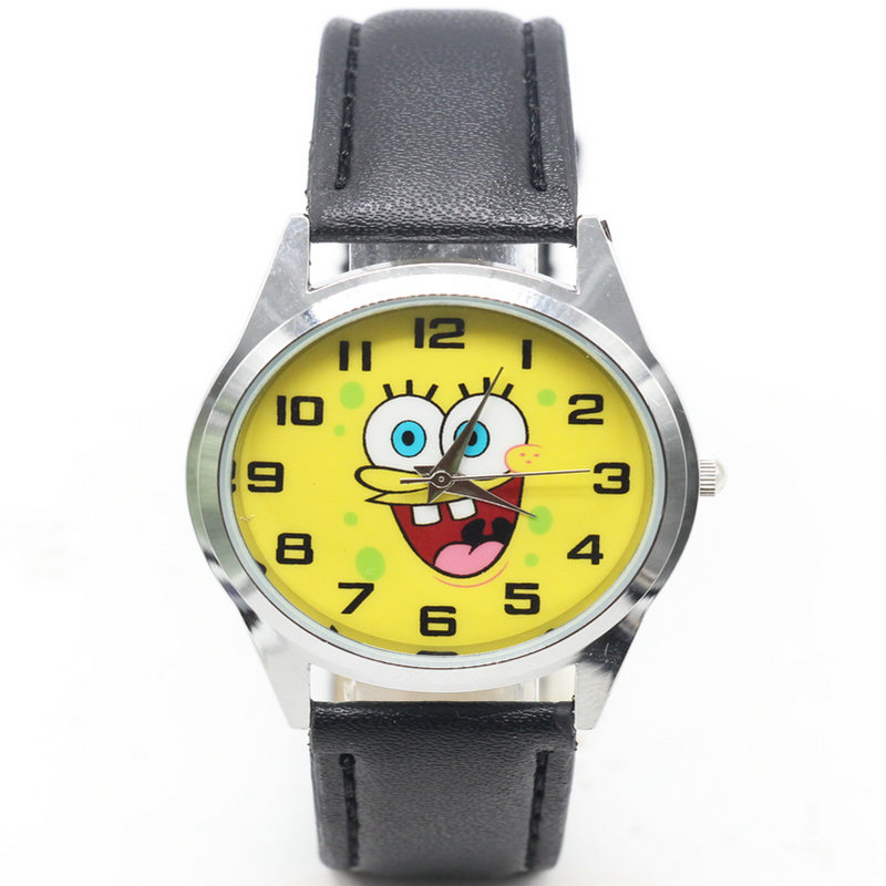 Fashion Casual Boys Girls Watch Electronic Digital Led Silicone Clock Wristwatch Bracelet For Children Kids Gift Bob Esponja Soft And Light Watches