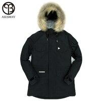 Asesmay 2017 Подпушка куртка высокое качество зимняя куртка Для мужчин модная куртка Для мужчин парка повседневная куртка 90% белая утка Подпушка
