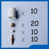 Free Shipping 40PCS PT 31 LG 40 Air Plasma Cutter Cutting Consumables KIT Plasma Nozzles TIPS