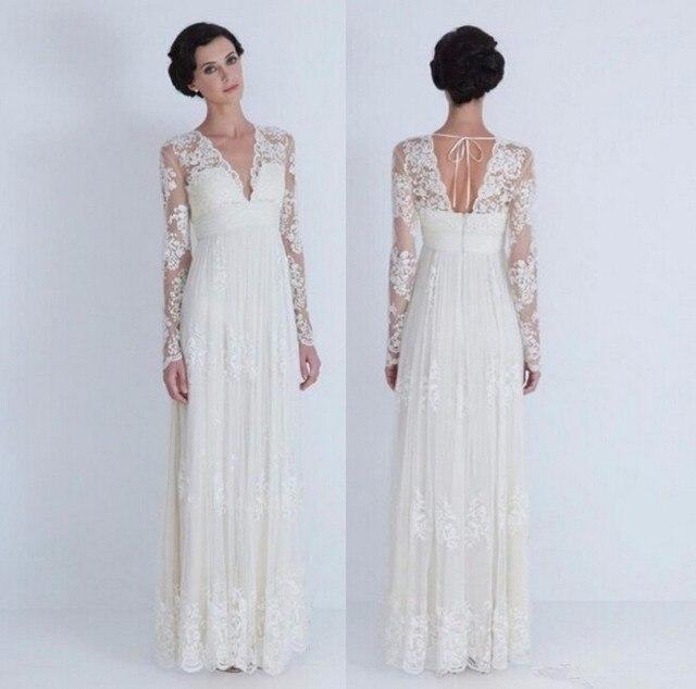 Vestido De Noiva Manga Suknia ślubna W Stylu Vintage Z Długim