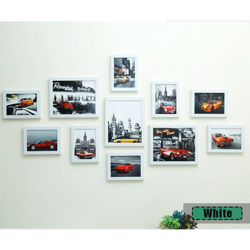 11 Pcs Photo Frame Set Picture Display Wall Hanging Modern Art Home Decor Black