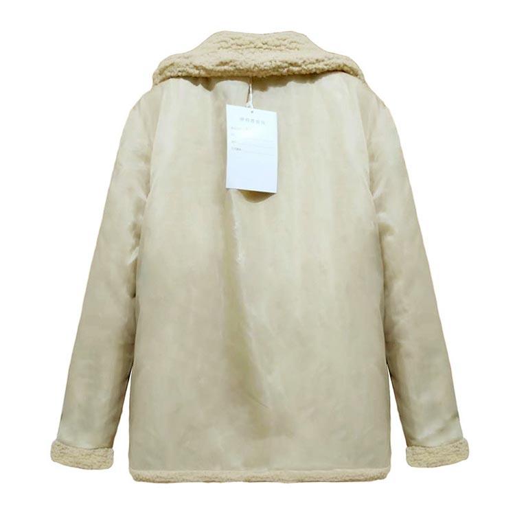 double-breasted jaquetas soltas roupas femininas casaco de