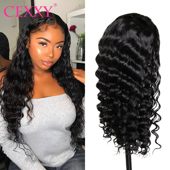 Cexxy Lace Front Human Hair Wigs Peruvian Natural Wave Pre Plucked Hairline With Baby 13x6 Wig - discount item  65% OFF Human Hair (For Black)
