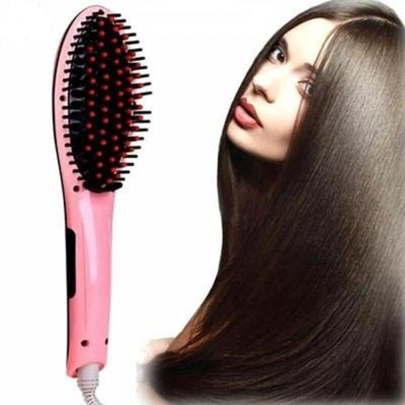 Pantalla Lcd de cepillo de pelo rápido plancha de pelo peine pelo cepillo eléctrico peine plancha de pelo recto del cepillo del peine