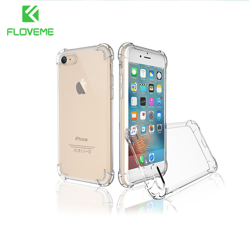 FLOVEME Anti Knock-fodral för iPhone 6 7 5s Coque för iPhone 6s Fundas Silicon Phone-fodral för iPhone 7 8 6 7 Plus X XS MAX XR Capa