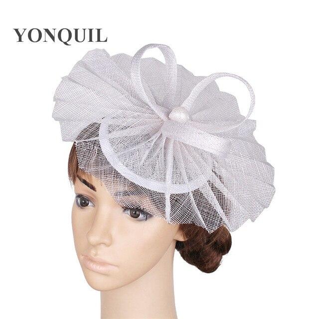Elegant Las Party Gold Fascinators Wedding Hat Hair Accessories Tail Headwear Occasion Headpiece Church Hats Tmyq114