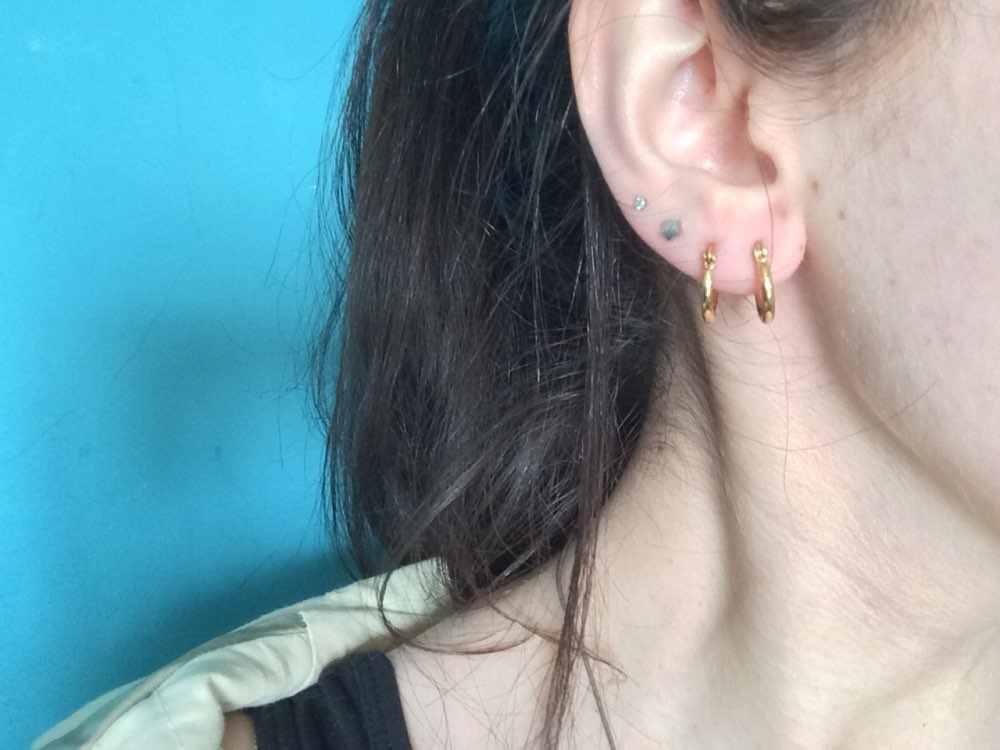 LUXUSTEEL Pendientes ต่างหูสแตนเลสทอง/เงิน/Rose สีต่างหูคริสต์มาสผู้หญิง Retractable ต่างหู