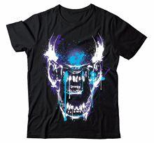 ALIENS PAINT SPLASH HIGH RES COLOR BLACK ALIEN COVENANT PH30 T-SHIRT Print T-Shirt Mens Short Tee Shirt Homme Tshirt Men