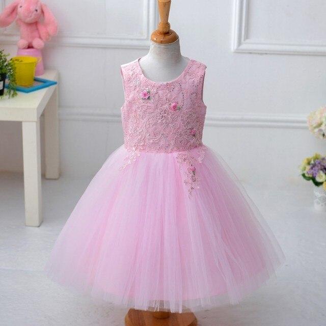Ems DHL бесплатная доставка дети элегантный потрясающие вышивка цветы дети девушки свадьба принцессы праздник пасхи марли платье