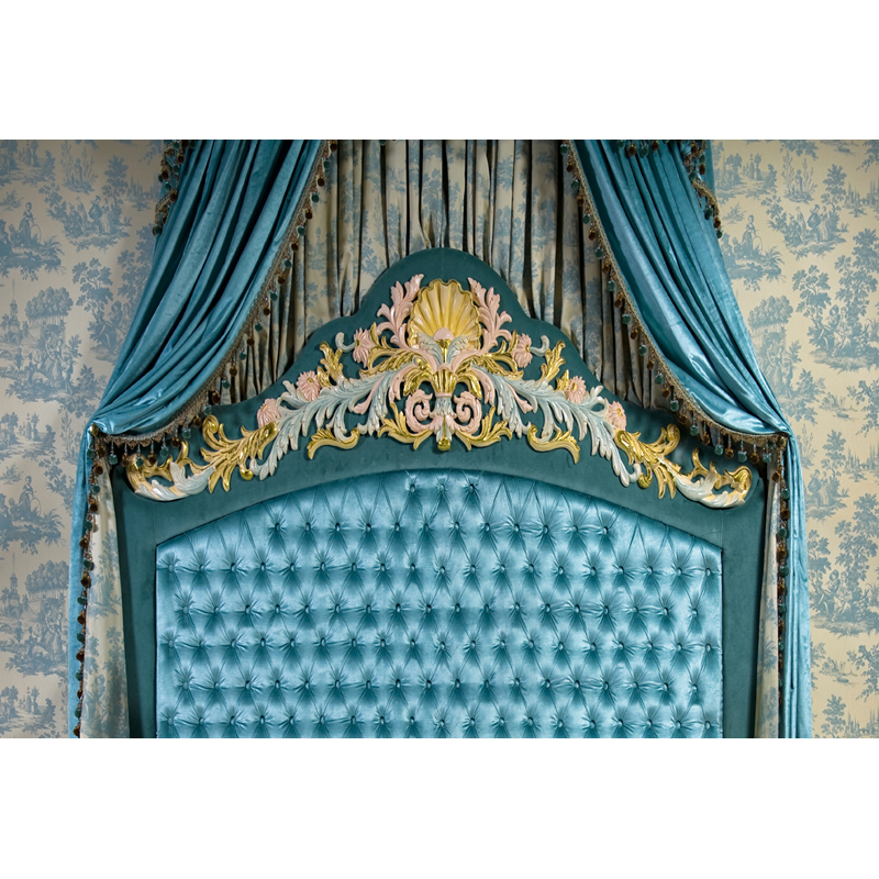 art fabric Photography Background backdrop printed with Turquoise bed headboard for photo studio newborn z-59