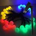30 Bombillas LED Con Energía Solar Luz de la Secuencia Bola Festival de Navidad de La Boda Al Aire Libre Jardín Tienda Home Deco Lámpara de Luz de Vacaciones