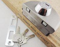 Folder Lock central glass door frameless locks (3 Computer Keys)