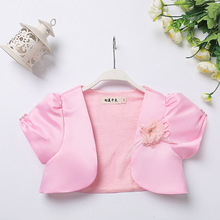 New Arrival Flower Girls Bolero Children Short Sleeves Party Graduation Coat Fashion Formal Kids Jacket
