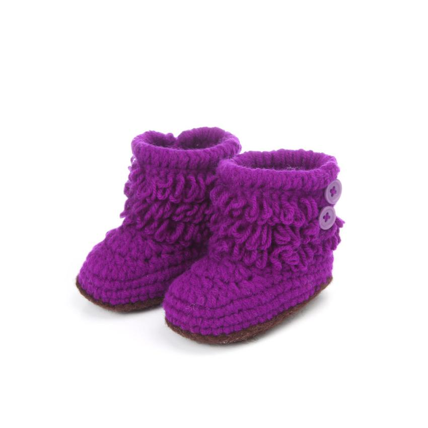 a6863b3abbb65 Woolen kids high boots casual shoes Baby Girls Crochet Handmade Knit  High-top Tall Boots Shoes chaussure enfant #