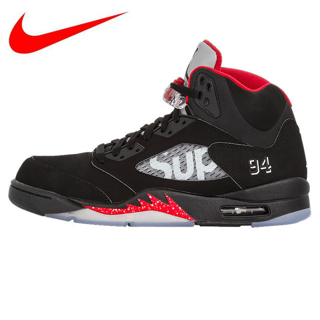 a1a6c30a840b0f Official Nike Air Jordan 5 AJ5 Limited Edition Joint Men s Basketball Shoes  Sneakers