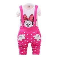 Retail Children S Suit Girls Clothes 100 Cotton Short Sleeve Dot T Shirt Pants 2 Pcs