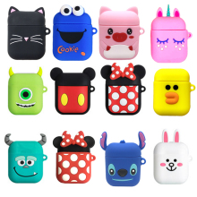 For AirPods Case Bluetooth Wireless Earphone Case For Apple Airpods 1 2 Cute Cartoon Protective Cover Accessories Charging Box цена 2017