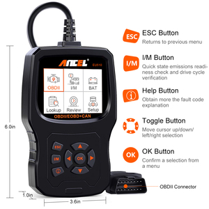 Image 5 - Ancel EU510 OBD2 Scanner Code Reader Auto Battery Tester Auto Diagnostic OBD 2 Automotive Scanner Car Diagnostics Tool PK ELM327
