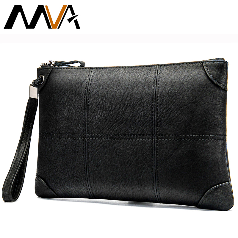 MVA Men's Clutch Bags Genuine Leather Men's Wallet Male Purse For Man Hand Bag Large Capacity Wallet Bussiness Day Clutch Bag
