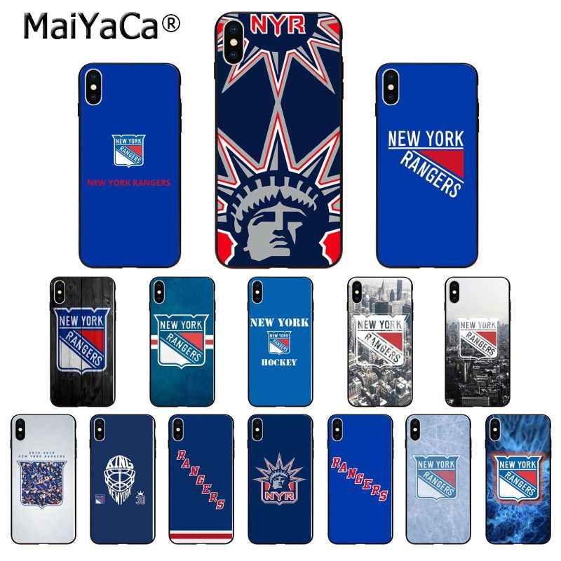 MaiYaCa Нью-Йорк Рейнджерс ТПУ мягкий высококачественный чехол для телефона для iPhone X XS MAX 6 6s 7 7plus 8 8Plus 5 5S SE XR