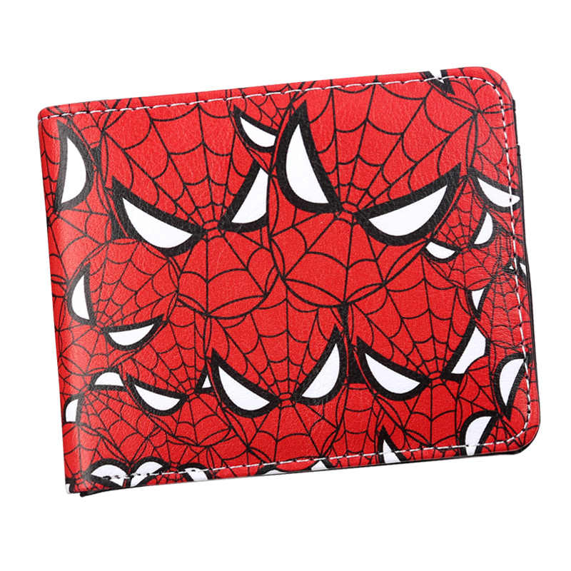 Anime Cartoon Marvel's Spider-Man Avengers wallet pu leather  Card Cente Clutch Bifold Purse