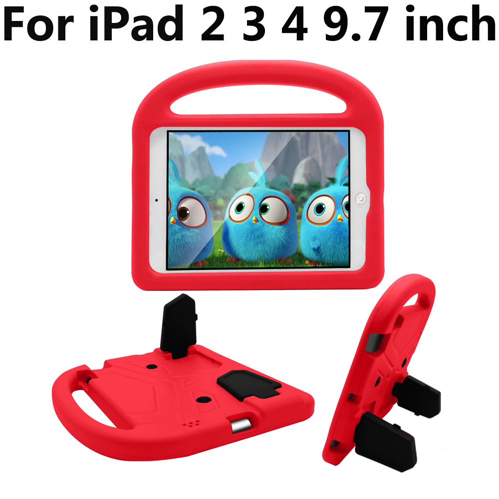 Case For Apple iPad 2 3 4 iPad2 iPad3 iPad4 9.7 inch A1458 A1459 A1395 A1403 A1430 Kid Safe Shockproof Silicone Cover kickstand for apple ipad2 ipad3 ipad4 case kids safe armor shockproof heavy duty silicon pc stand back case cover for ipad 2 3 4 tablet pc
