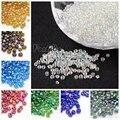 50g de color transparente AB 2/3/4mm 6/0 8/0 12/0 moda suelta redondo color de la semilla de cristal fabricación de la joyería diy decoración beading
