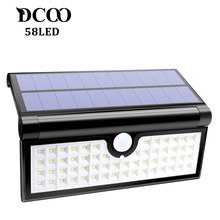 Solar Lamp Lights 58 LED Foldable Wireless Wall Light Outdoor Security Lighting Super Bright Camping Lights Garden