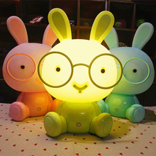 New Baby Room Night Light Eyewear Bunny Cartoon Night Sleep Children's Beddress Night Best Gift EU/ United States Plug