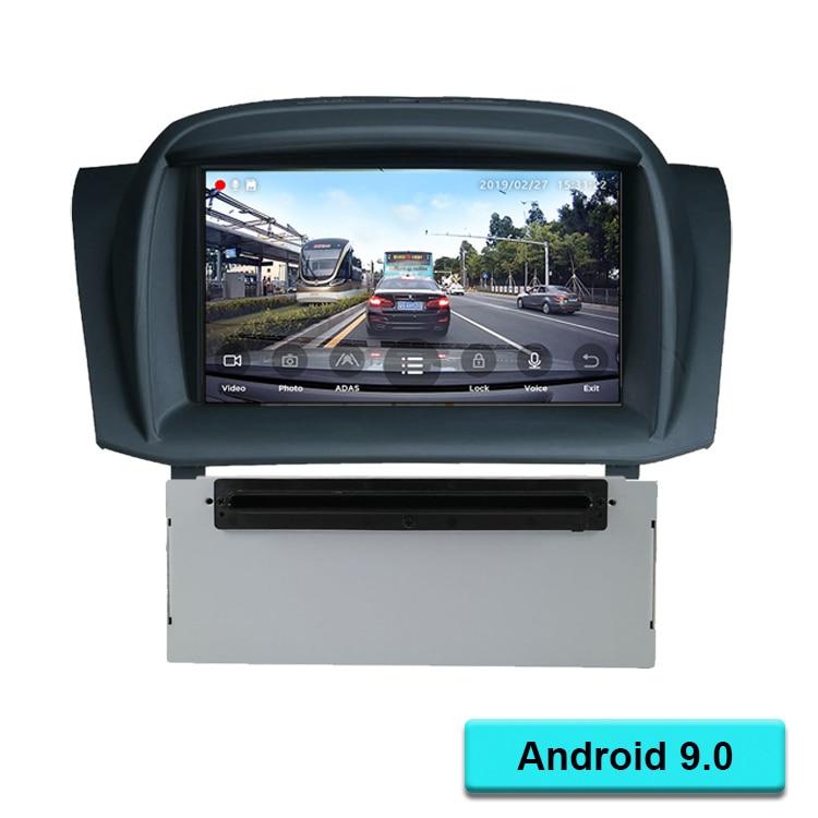 Quad core Android 9.0 DVD de voiture pour Fiesta 2009 2010 2011 2012 2013 2014 2015 2016 Auto Radio GPS Navigation Audio vidéo DAB + WiFi