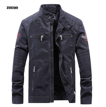 Men's pu Leather Motorcycle jacket Men Autumn and Winter Leather Clothing fashion Men Motorcycle Leather Jackets Male