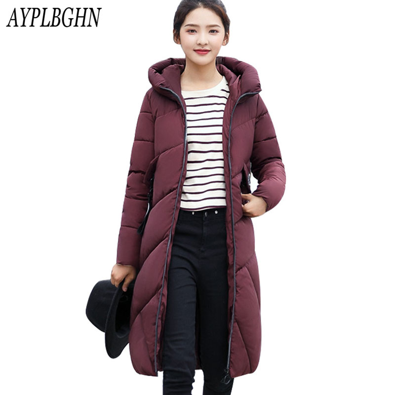 Plus size New Winter Jacket Women Hooded Thicken Coat Female fashion Warm Outwear Cotton-Padded Long Wadded Jacket Coat Parka new winter women jacket medium long thicken plus size outwear hooded wadded coat slim parka cotton padded jacket overcoat cm1039