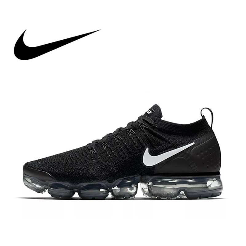 D'origine NIKE AIR VAPORMAX FLYKNIT 2.0 Chaussures de Course Hommes Respirant Durable de Sport Low Cut Confortable Sports de Plein AIR Sneakers