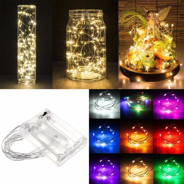 Luces de Navidad 3M/30 5M/50 10M 100Led Lampada Christmas Holiday Wedding Party Decoration LED Copper Wire String Lights Lamps