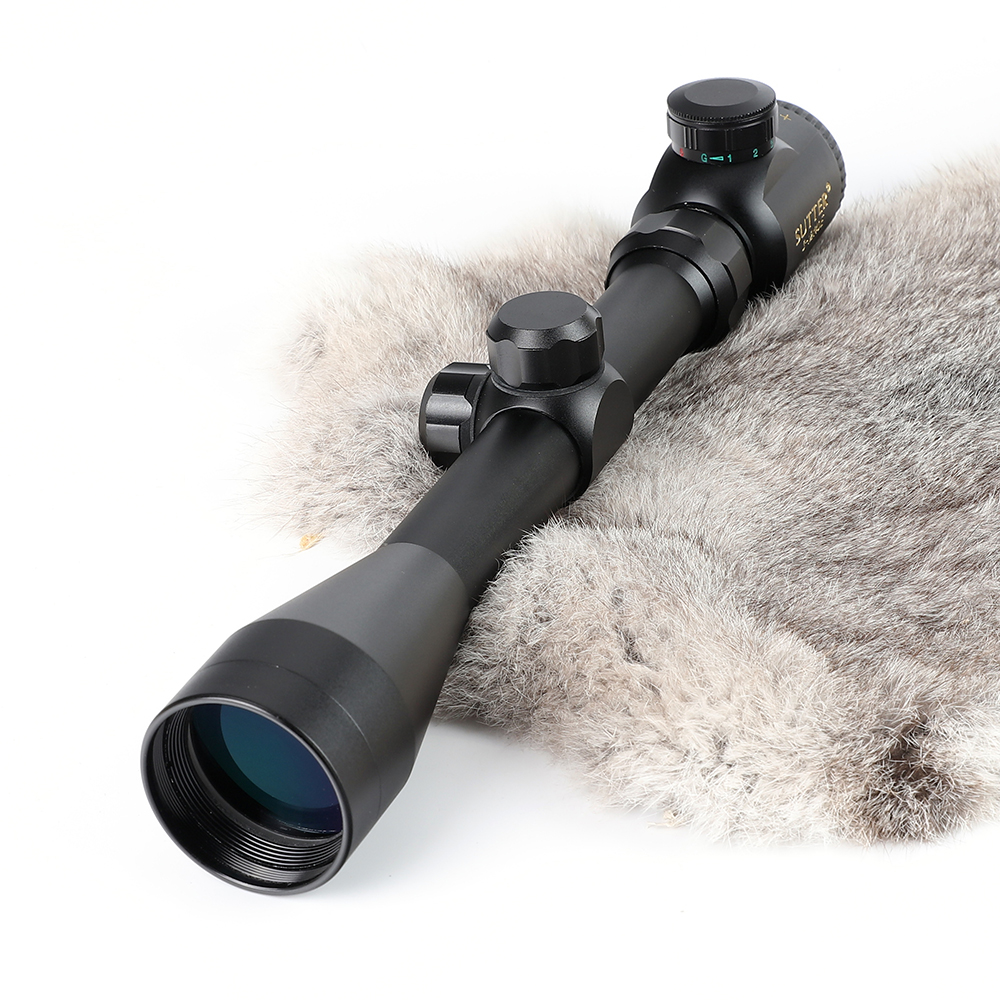 Tactical Optical Sight SUTTER 3-12x40E R14 Reticle Red Green Illuminated Hunting Rifle Scope For Air Gun shotgun lebo 4x32 aome tactical optical sight glass reticle red green illuminated compact lock rifle scope for hunting riflescope