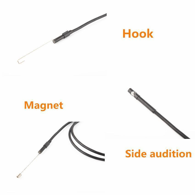 2M 1M 5.5mm 7mm Endoscope Camera Flexible IP67 Waterproof Inspection Borescope Camera for Android PC Notebook 6LEDs Adjustable 4