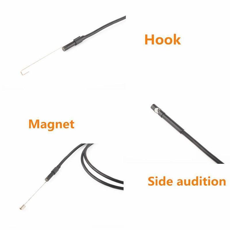 2M 1M 5 5mm 7mm Endoscope Camera Flexible IP67 Waterproof Inspection Borescope Camera for Android PC 2M 1M 5.5mm 7mm Endoscope Camera Flexible IP67 Waterproof Inspection Borescope Camera for Android PC Notebook 6LEDs Adjustable