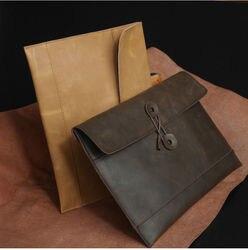 A4 in primo luogo-classs genuino di affari del cuoio conferenza cartella di file sacchetto del documento briefcase portfolio padfolio portatile 5022A