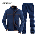 Jolintsai 4 Colors Sportswear Men Suit Sweatershirt+Pant Mens Tracksuit Sets 2017 Long-sleeve Hoodies Suits Men Sudaderas Hombre