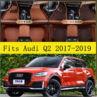 JIOYNG Car Accessories Styling Custom Foot Mats 3D Luxury Leather Car Floor Mats Fits For Audi Q2 2017 2018 2019
