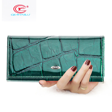 High Quality Fashion Genuine Leather Wallet of Women Long Female Money bags Woman Cards Clutch Purse