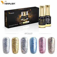6 шт./лот VENALISA Платиновый Гель-лак для ногтей 12 мл Звездный Гель-лак для нейл-арта длительное впитывание УФ светодиодный гель для ногтей с бле...