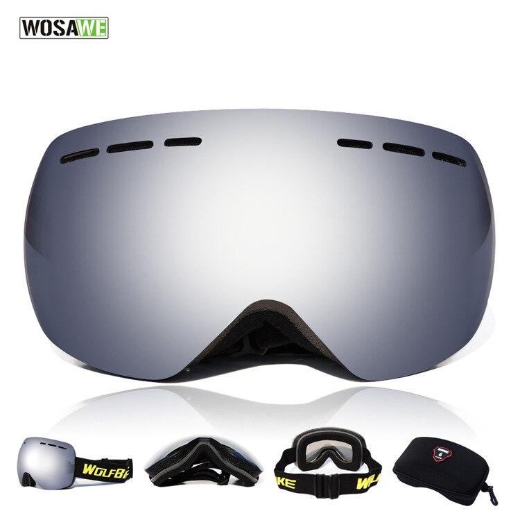 Prix pour Lunettes de Ski Snowboard Lunettes de Randonnée En Plein Air De Patinage Snowboard Double Anti-brouillard Uv400 Lunettes Lunettes