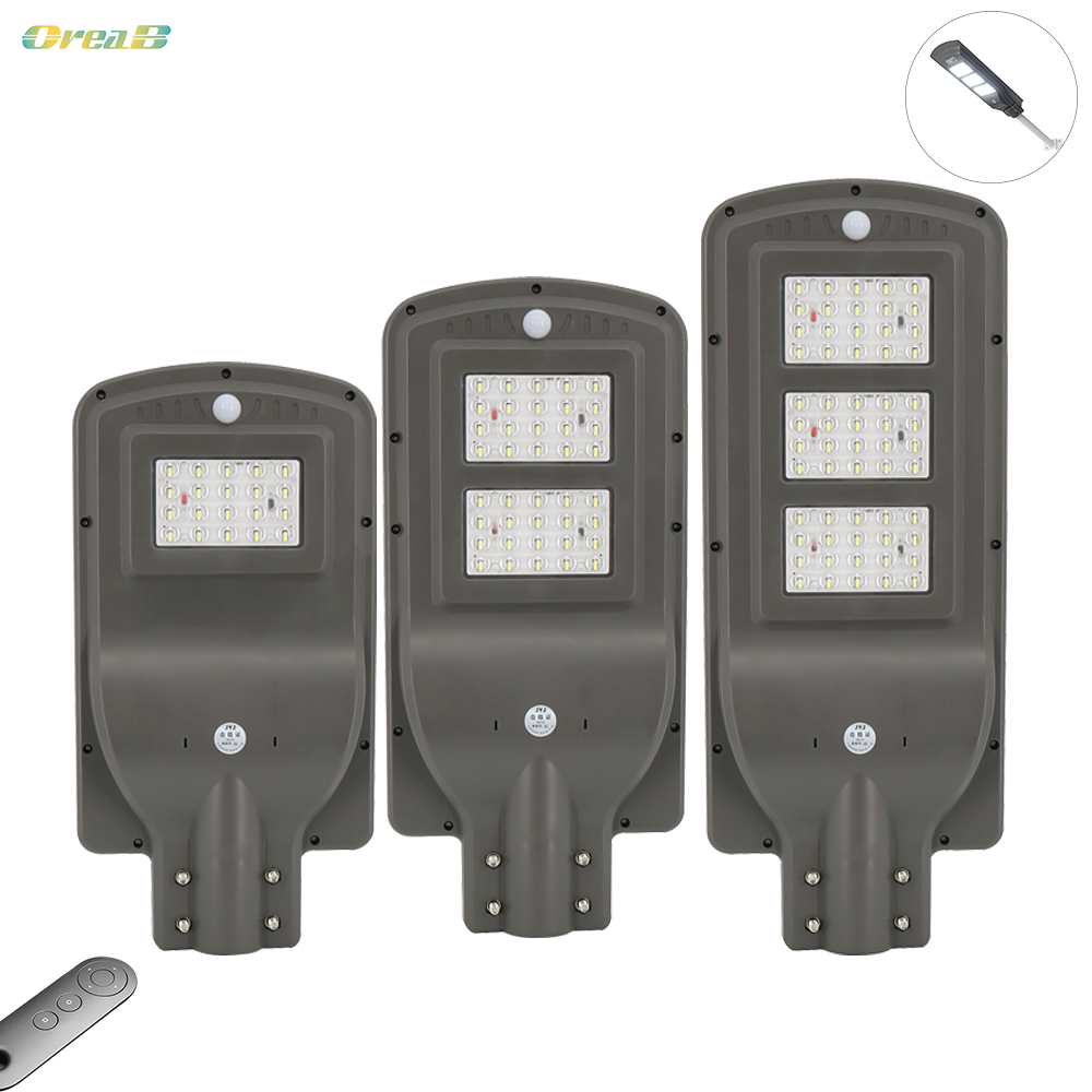 20w 40w 60w Motion Sensor Led Solar Street Light Ip65 Waterproof Solar Path Lights Lamp Wtih