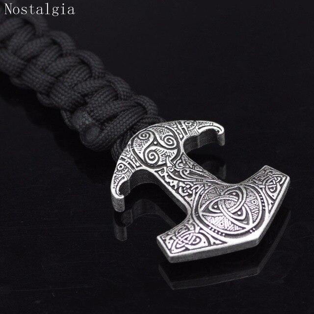 Nostalgia Odin Raven Vikingos Thor Hammer Mjolnir Triskele Trinity Viking Jewelry Bracelet Valknut Vegvisir Rune Slavic Vikinga 5