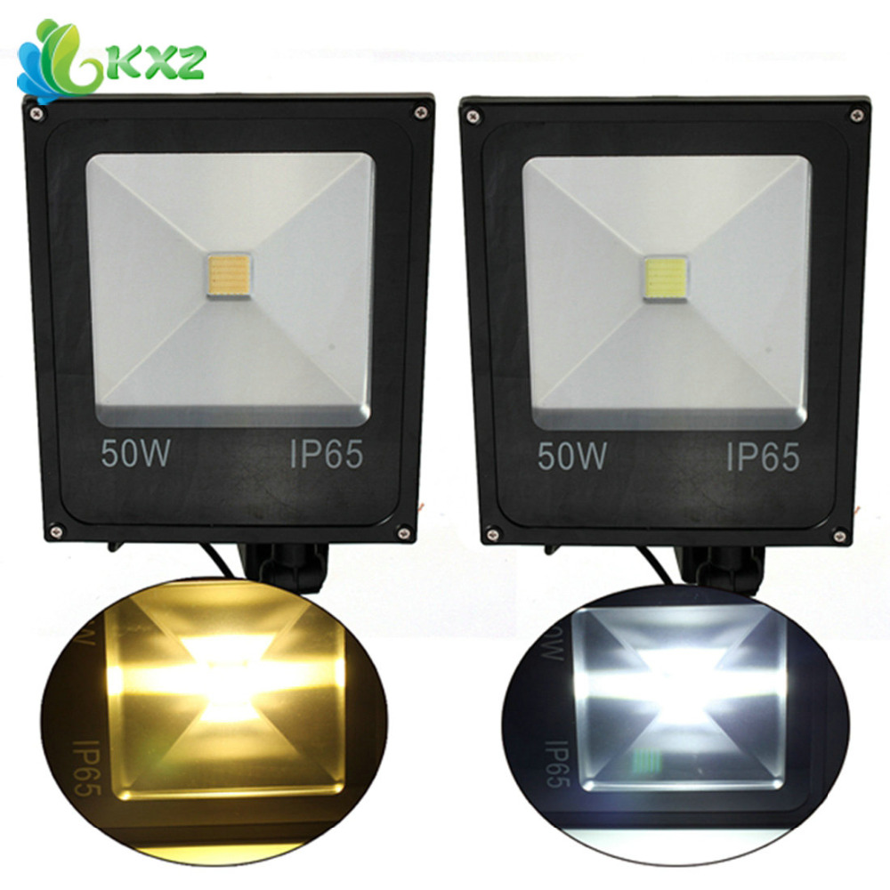 50W PIR Motion Sensor LED Flood Light IP65 Waterproof Outdoor Pathway Street Garden Yard Landscape Floodlight Lamp Warm/ White стоимость