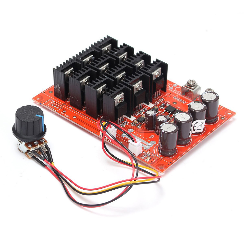 DC 10-50V 60A High Power Motor Speed Controller PWM HHO RC Driver Controller Module 12V 24V 48V 3000W Extension Cord with Switch dc 12v 24v 36v 2 way pwm motor driver board module 450w high power controller