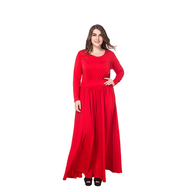 Us 25 99 Morefeel Plus Size 3xl 4xl Long Dress Vestido Renda Dresses Sexy Christmas Dinner Dress Top Quality Long Sleeve Sexy Clothing In Dresses