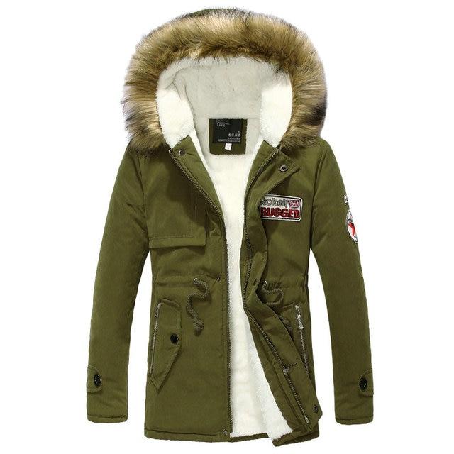 Hot Selling Autumn Winter Long Parka Men Casual Slim Fit Hood Winter Jackets Mens Lovers Coat (Asian Size)
